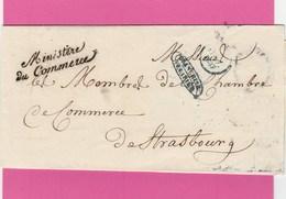 Paris - Lettre En Franchise - Ministère Du Commerce - 1837 - LSC - 1801-1848: Voorlopers XIX