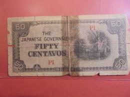 JAPON(OCCUPATION MILITAIRE) 50 CENTAVOS CIRCULER-REPARER - Japan