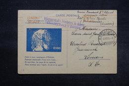 SUISSE - Carte D 'Interné De Prisonniers De Guerre De Grindelwad Pour Greenwich En 1916 -  L 27698 - Marcophilie
