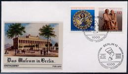 GERMANIA BERLINO - FDC 1980 -  MUSEUM - PREUSSISCHE MUSEEN -  FARAONE - NEFERTITI - Archeologia