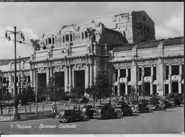 MILANO - STAZIONE CENTRALE - EDIZ. GARANI ANNI'40 - SCRITTA AL RETRO - Stazioni Senza Treni