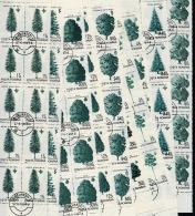 ROUMANIE 1994, DEFINITIVE, ARBRES, PINS, CONIFERES, 10 Valeurs X 10, Oblitérés / Used. R524 - 1948-.... Republiken