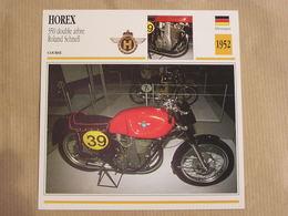 HOREX Double Arbre R Schnell  Allemagne Germany 1952 Moto Fiche Descriptive Motocyclette Motos Motorcycle Motocyclette - Non Classés