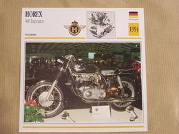HOREX 400 Imperator  Allemagne Germany 1954 Moto Fiche Descriptive Motocyclette Motos Motorcycle Motocyclette - Non Classés