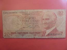 TURQUIE 20 LIRA 1970 CIRCULER - Turquie