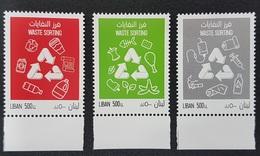 Lebanon NEW 2019 MNH Complete Set 3v. - Waste Management, Recycling, Environment - Lebanon