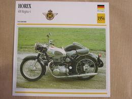 HOREX 400 Regina 4  Allemagne Germany 1954 Moto Fiche Descriptive Motocyclette Motos Motorcycle Motocyclette - Non Classés