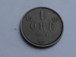 Suede   1 Ore 1874 OSCAR II  -  Bronze   TTB    KM#734 - Suède