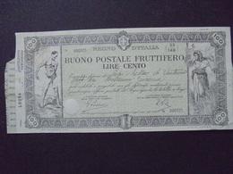 ITALIE, BUONO  POSTALE 100 LIRES - BELLE ILLUSTRATION - Shareholdings