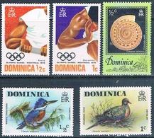 Dominica 1976  -  Yvert  471 + 472 + 478 + 479 + 505  ( ** ) - Dominica (1978-...)
