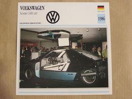 VW Volkswagen Scooter 1400 Cm3 Allemagne Germany 1986 Moto Fiche Descriptive Motocyclette Motos Motorcycle Motocyclette - Unclassified
