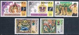 Dominica 1977  -  Yvert  512 + 513 + 531 + 532 + 524  ( ** ) - Dominica (1978-...)