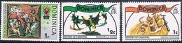 Dominica 1977 / 78  -  Yvert  531 + 545 + 546  ( ** ) - Dominica (1978-...)