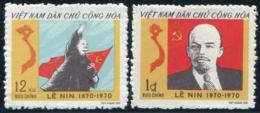 Vietnam Du Nord 1970  YT 704-705 ; Mi# 608-609 MNG (*) - Viêt-Nam