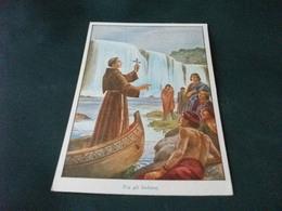 MISSIONE PRO APOSTOLICHE MISSIONI FRANCESCANE FRANCESCANO TRA GLI INDIANI ILLUSTRATORE M. BARBERIS - Missioni