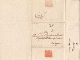 1810 Prefilateliche. Lotto Di 2 Lettere Granducato Di Toscana (annulli In Francese) E Romagne, Da Lugo A Bologna - Italy