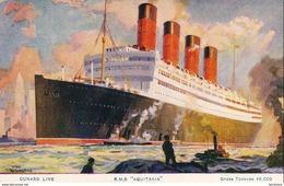 """PAQUEBOTS  Cunard Line R.M.S. """" AQUITANIA """" Gross Tonnage 46,000    ... - Paquebots"""
