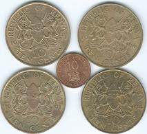 Kenya - 10 Cents - 1966 (KM2) 1971 (KM11) 1991 (KM18) 1994 (KM18a) & 1995 (KM31) - Kenia