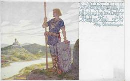 AK 0209  Lieb Vaterland Magst Ruhig Sein ... ( Wacht Am Rhein ) / Künstlerkarte Um 1910-20 - Malerei & Gemälde