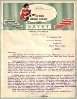 SEINE ET MARNE - ENTÊTE PETITE FILLE - LE BON CIRAGE CREME - PRODUITS SAYET - LETTRE - 1920 - France