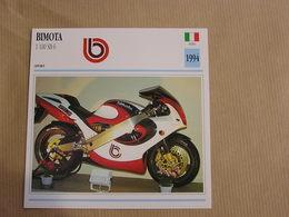 BIMOTA 1100 SB 6  Italie Italia 1994 Moto Fiche Descriptive Motocyclette Motos Motorcycle Motocyclette - Non Classés