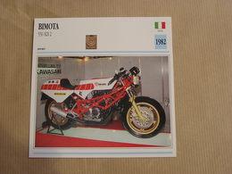 BIMOTA 550 KB 2  Italie Italia 1982 Moto Fiche Descriptive Motocyclette Motos Motorcycle Motocyclette - Non Classés