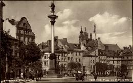 Cp Warszawa Warschau Polen, Plac Zamkowy, Kolumna Zygmunta, Schlossplatz - Polonia