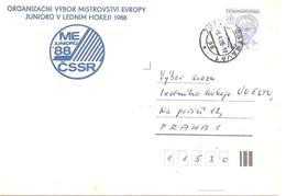 1988 Championnats D'Europe Junior De Hockey Sur Glace:Ostrava (Tchécoslovaquie) - Hockey (sur Glace)