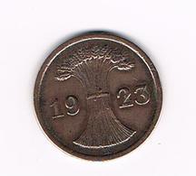 °°°  WEIMAR REPUBLIC  2 RENTENPFENNIG  1923 A - 2 Rentenpfennig & 2 Reichspfennig