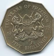 Kenya - 5 Shillings - 1973 - 10th Anniversary Of Independence - KM16 - Kenya
