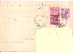 CARTOLINA POSTALE ESPRESSO  DEL 1963  VIAGGIATA OSE' - 6. 1946-.. Repubblica