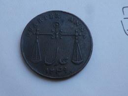 Inde Britannique   Quarter Anna 1833 (1249 Ah) Présidence Bombay   KM# 232   25 Mm       TTB Patine Sombre - Inde