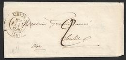 1840 LAC - C.à.d Type 14 -  CREIL ( OISE ) - A SENTIL - 1801-1848: Vorläufer XIX