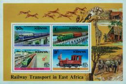 Ref. 55642 * NEW *  - KENYA . 1976. RAILWAY TRANSPORT. TRANSPORTES FERROVIARIOS - Kenia (1963-...)