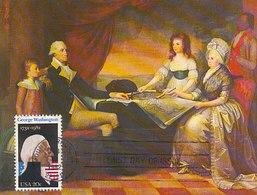 D36737 CARTE MAXIMUM CARD FD 1982 USA - PRESIDENT WASHINGTON CP ORIGINAL - George Washington