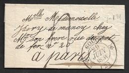 1831 - LAC - C.à.d Type 12 COUCY (AISNE) A PARIS - Marcophilie (Lettres)