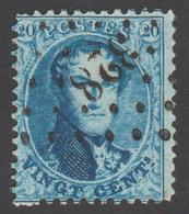 """COB 15 Avec Voisin - Oblitération à """"POINTS"""" N°.: 328 (St. NICOLAS) - 1863-1864 Médaillons (13/16)"""