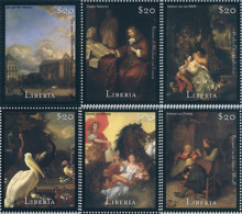 Ref. 372945 * NEW *  - LIBERIA . 2000. 200th ANNIVERSARY OF AMSTERDAM RIJKSMUSEUM. PAINTINGS. 200 ANIVERSARIO DEL MUSEO - Liberia