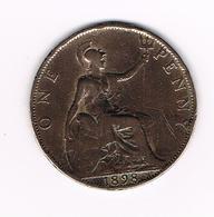 °°° GREAT BRITAIN  1 PENNY 1898  VICTORIA - 1816-1901 : Frappes XIX° S.