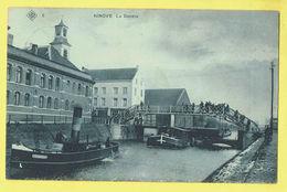 * Ninove (Oost Vlaanderen) * (SBP, Nr 5) La Dendre, Dender, Pont, Bridge, Canal, Quai, Bateau, Boat, Péniche, TOP Unique - Ninove