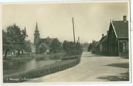 's Gravendeel 1942; 't Weegje - Gelopen.  (A. De Vries - 's Gravendeel) - Other