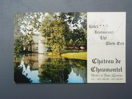 Château De Chaumontel Hôtel Restaurant Carte De Visite Val D'Oise - Cartes De Visite