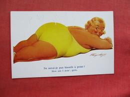 Heavy Female  Signed Artist  Humour  Ref 3268 - Humour