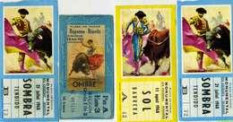 C 125 / 1  LOT DE 4  BILLETS D'ENTREE CORRIDA - Tickets D'entrée