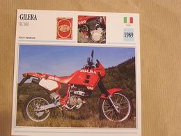 GILERA RC 600 Italie Italia 1989 Moto Fiche Descriptive Motocyclette Motos Motorcycle Motocyclette - Non Classés
