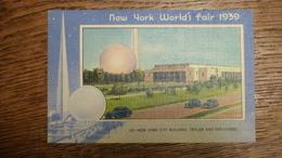 ETATS-UNIS, NEW YORK WORLD'S FAIR 1939, NEW YORK CITY BUILDING, TRYLON AND PERISPHERE - Expositions