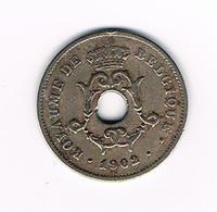°°°  LEOPOLD II  10 CENTIEM  1902 FR - 1865-1909: Leopold II