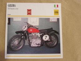 GILERA 500 Saturno Cross Italie Italia 1956 Moto Fiche Descriptive Motocyclette Motos Motorcycle Motocyclette - Non Classés