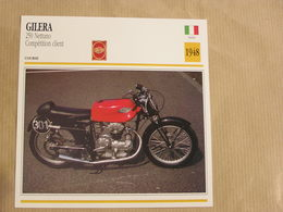 GILERA 250 Nettuno Compétition Italie Italia 1948 Moto Fiche Descriptive Motocyclette Motos Motorcycle Motocyclette - Non Classés
