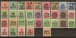 Allemagne Rép. Weimar 1923 - Inflation - Petit Lot De 27 - 14 MNH  - 11 MH - 1NSG (268) - Vrac (max 999 Timbres)